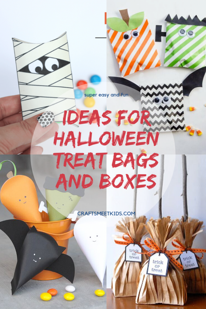 Ideas For Halloween Treat Bags And Boxes Crafts Meet Kids