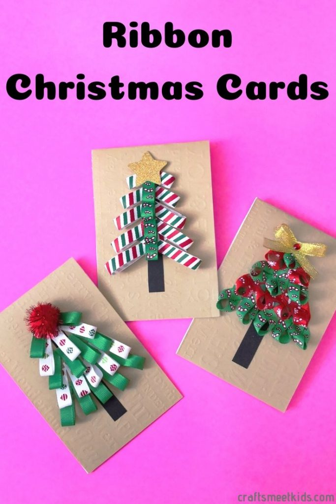 Ribbon Christmas Tree Christmas Cards For Kids Crafts Meet Kids